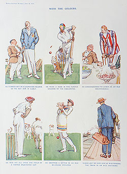 Original Punch Cricketing cartoon for sale