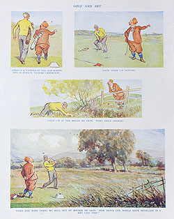 Original Punch Golf cartoon for sale