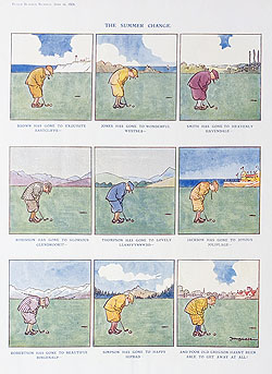 Original Punch Golf cartoon