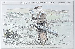 Original Punch Golf cartoon 1920