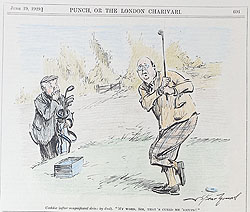 Original Punch Golf cartoon 1923