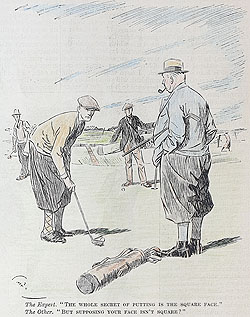 Original Punch Golf cartoon 1929