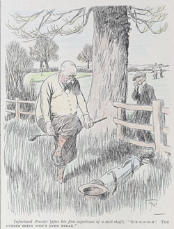 Original Punch Golf cartoon 1930