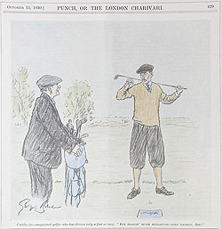 Original Punch Golfing cartoon 1930