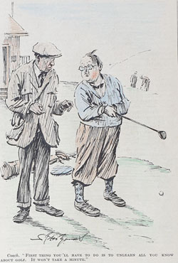 Original Punch Golf cartoon 1933