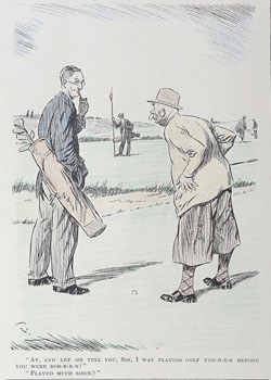 Original Punch Golfing cartoon 1933
