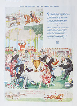 Punch Horse Racing Ascot cartoon