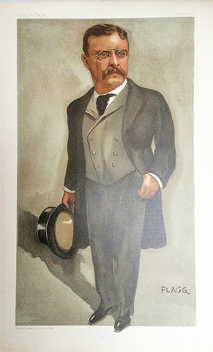 Theodore Roosevelt Original Vanity Fair Spy Print for sale
