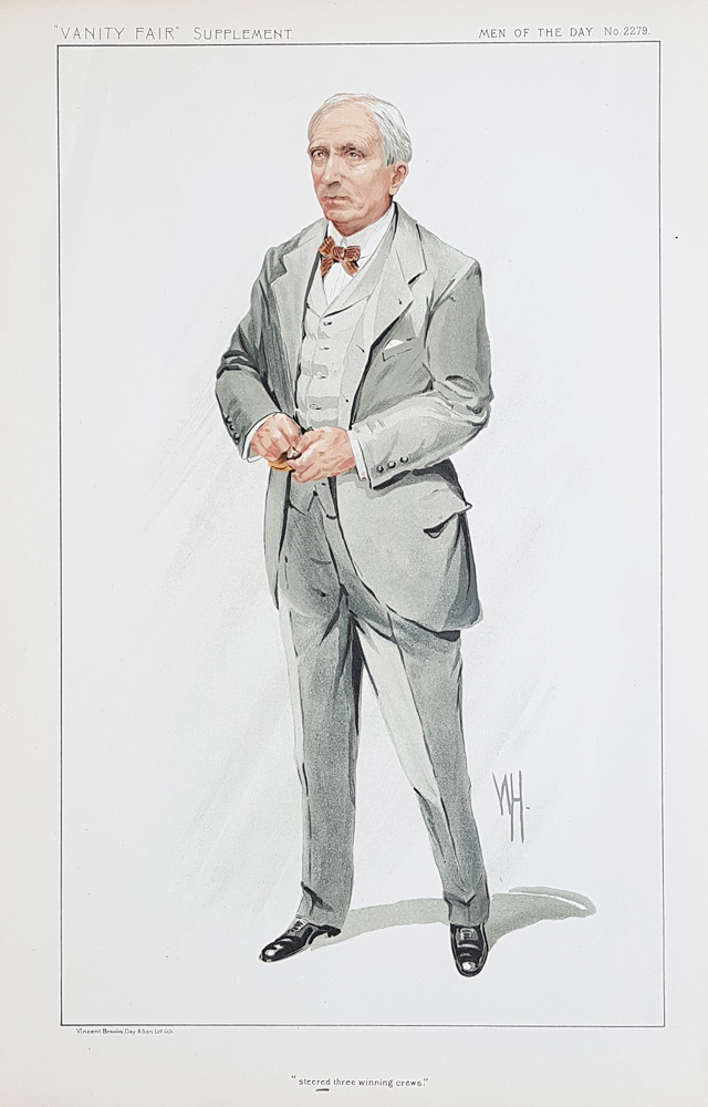 Original Vanity Fair Rowing Spy Print for sale John Corrie Carter