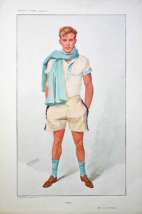 Original Vanity Fair Rowing Spy Print for sale Duggie Stuart