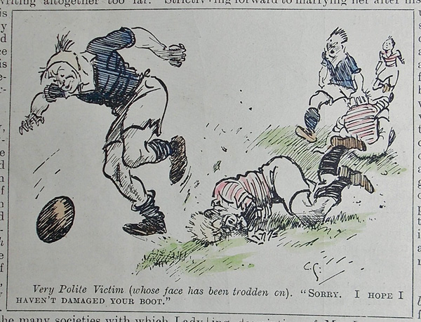 Ideal Rugby Gift- Original Punch cartoon for sale