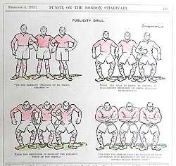Punch Rugby Cartoon Print -Publicity Drill