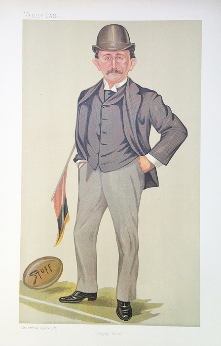 Original Vanity Fair Spy Rugby Print for sale Edward Temple Gurdon