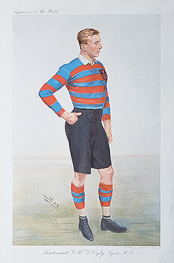 Antique Rugby caricatures for sale