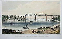 Saltash Bridge by Brunel - click here for more topographical prints