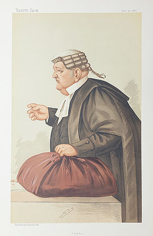 Samuel Pope QC caricature for sale