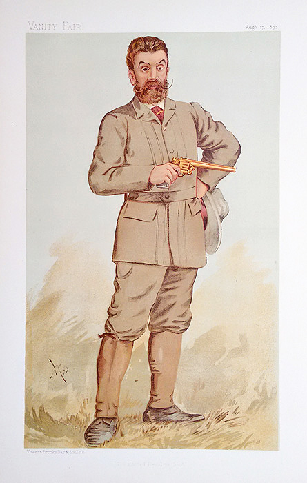 Revolver Shooting Caricature from Vanity Fair