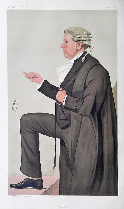 Vanity Fair Spy Print Frank Lockwood Qc Barrister And Mp