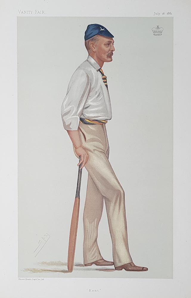 Original Vanity Fair Print by Spy - Lord Harris - played cricket for Kent