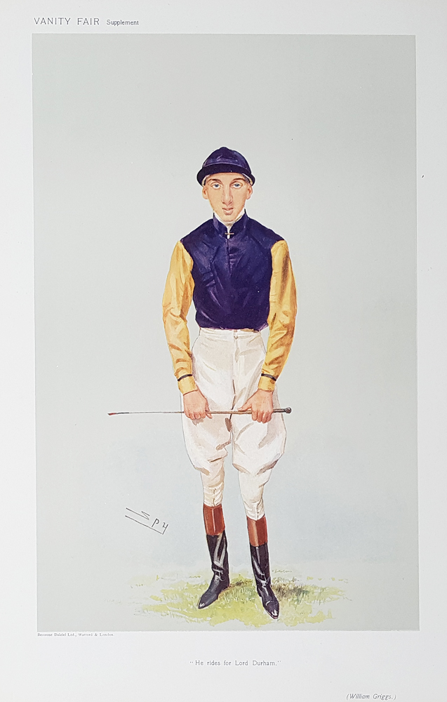 Original Vanity Fair Spy Jockey Print for sale Mr Griggs