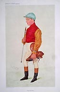 Frank Wotton Jockey - original Vanity Fair print by Spy