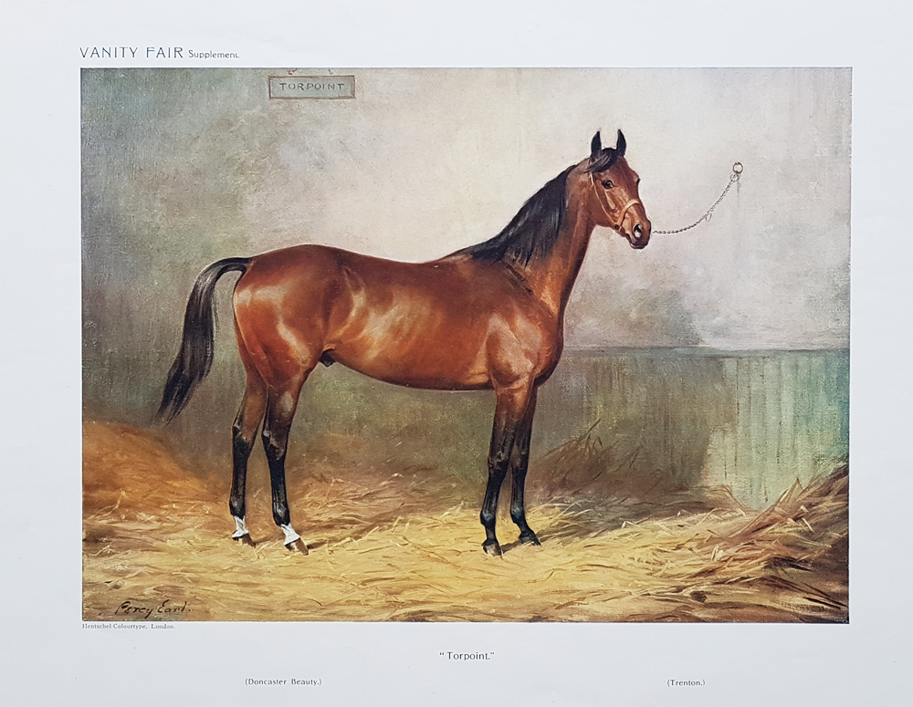 Original Vanity Fair Spy Race Horse Print for sale Torpoint