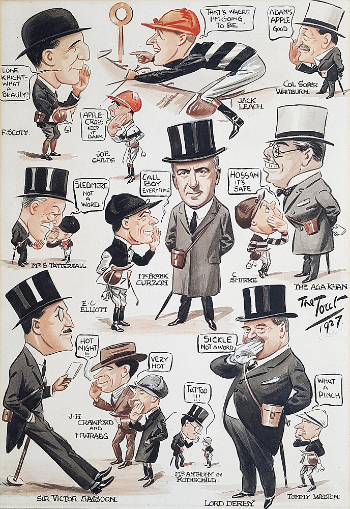 The Derby 1927 Caricature by Tout