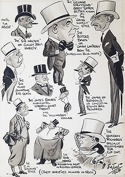 Ascot Races caricatures 1928 for sale