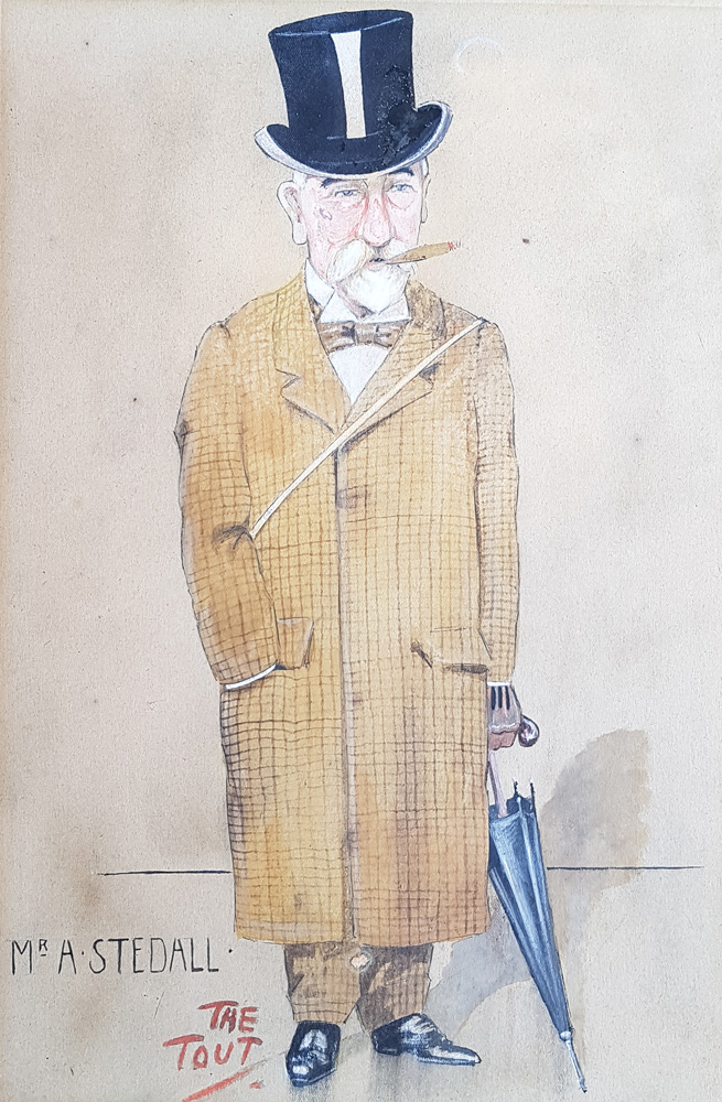 Mr A. STEDALL Caricature by Tout