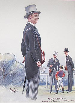 Caricature of George VI by Tout