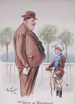 Horse racing caricature by Tout