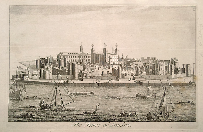 Tower of London antique engraving
