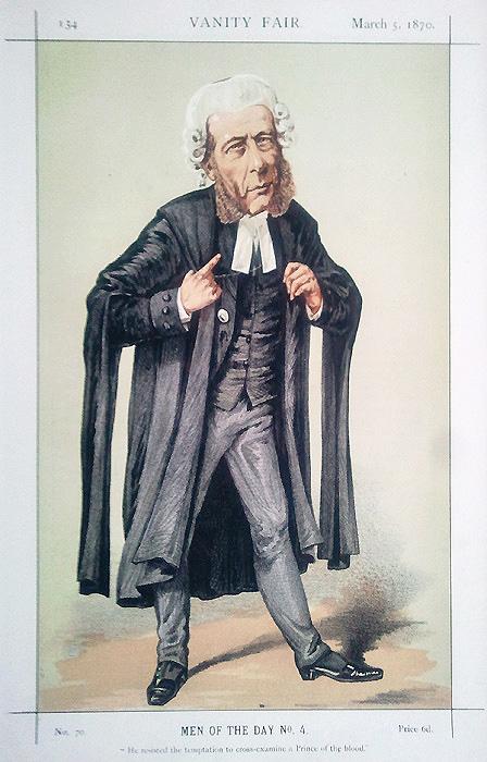 Vanity Fair Legal Print Sergeant Ballantine 1870 For Sale