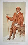 Climbing, Mountaineering Caricature print from Vanity Fair - Antique