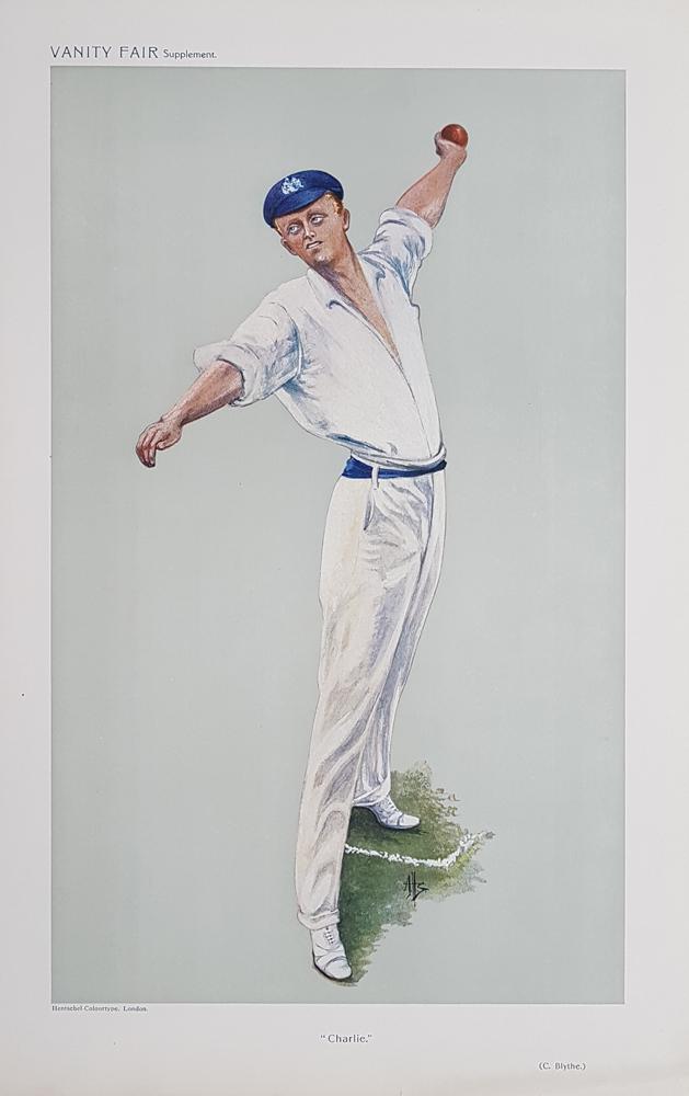 Spy Cricket Print Colin Blythe Charlie 1910
