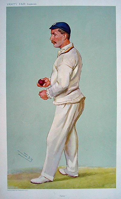 Original Vanity Fair Cricketer Print - C. M. Wells