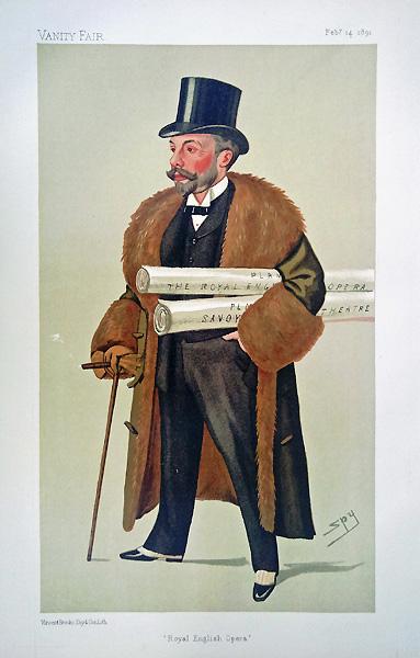 Original Vanity Fair Print Richard D Oyly Carte For Sale
