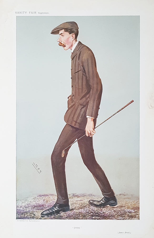 Original Vanity Fair Golf Print - James Braid