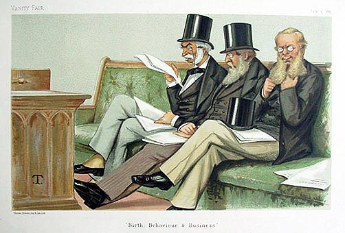 Original Vanity Fair Print of Birth, Behaviour and Business for sale