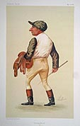 Vanity Fair original caricature prit of a Jockey - Charlie Wood