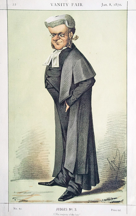 Caricature of Judge - Vanity Fair