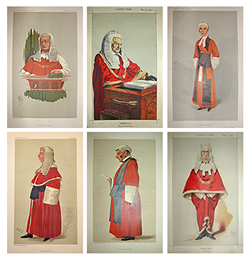 Vanity Fair set of Red Robe Judges for sale