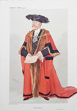 Lord Mayor caricature for sale