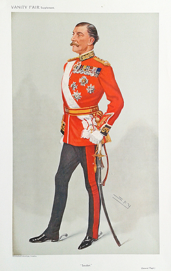Military caricature from Vanity Fair for sale