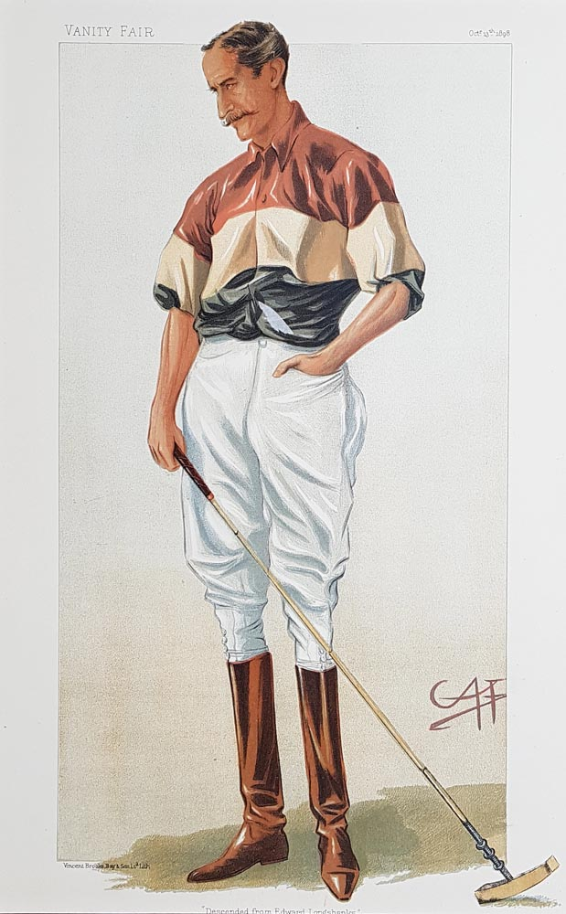 Original Vanity Fair Polo Print for sale Major Michael Rimington