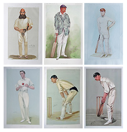 Vanity Fair Prints - set of Cricketers for sale