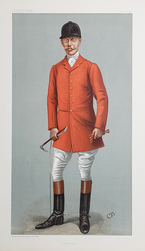 Vanity Fair Print of the Master of the Quorn Hunt - Captain Tommy Burns-Hartopp