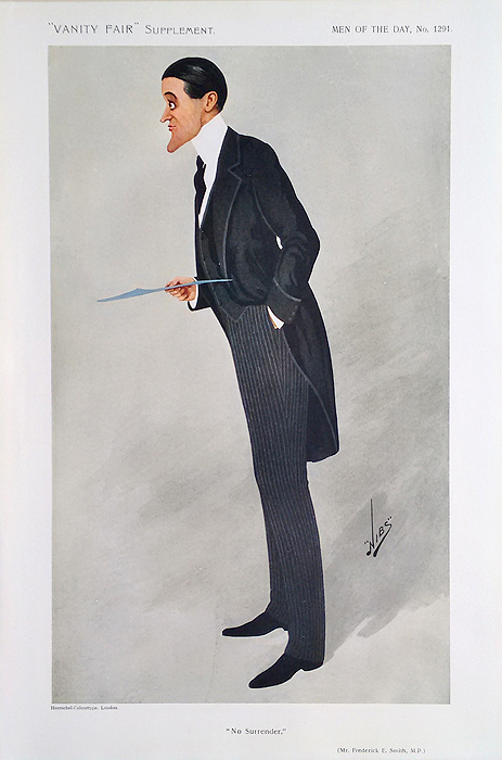 Original Vanity Fair Spy Print of F E Smith for sale