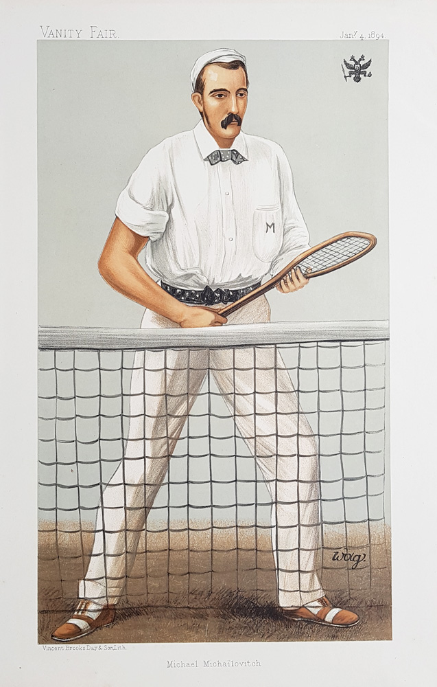 Original Vanity Fair Tennis Print for sale Grand Duke Michael Michailovitch of Russia
