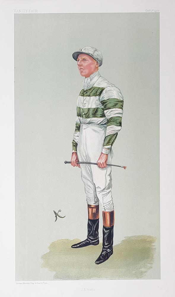 Vanity Fair Jockey Print For Sale J E Watts 1903